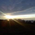 Sonnenuntergang in Loddin