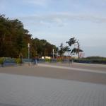 Kurplatz mit Fischerhütten