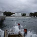 Seebrücke als Wellenbrecher