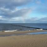 der Regenboben spiegelt sich in der Ostsee...