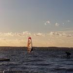 Windsurfen auf dem Haff